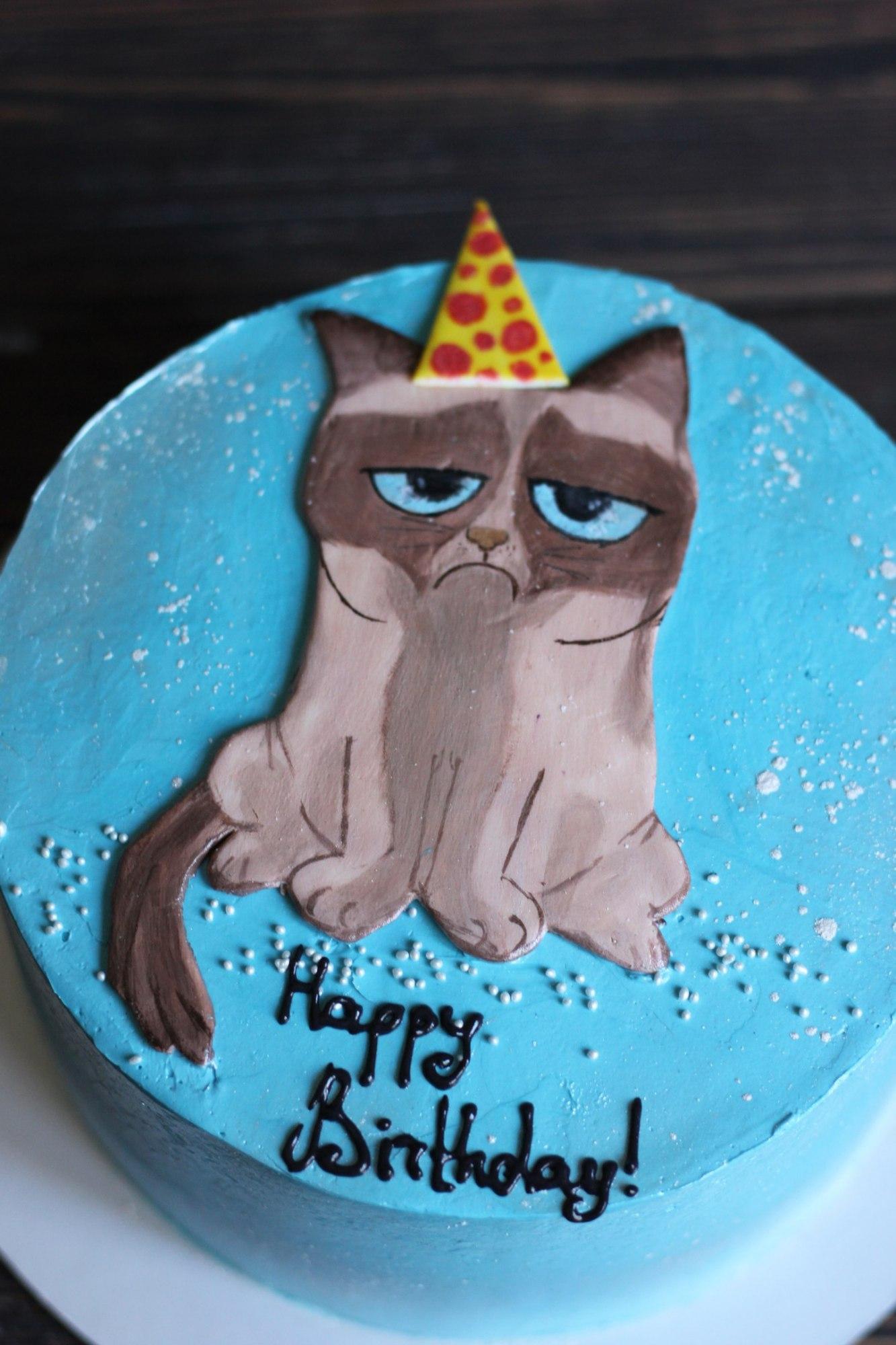 Торт в виде Кота - Рецепты Юльетты